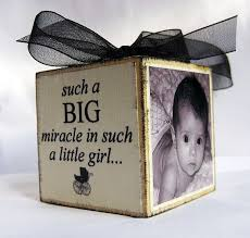personalized baby s ornament block in