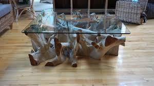 Usm Wohnzimmertisch Couchtisch Wurzelholz Mit Glasplatte Krines Home