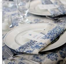 blue and white table ls the knot your personal wedding planner toile table setting