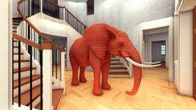 elephant living room living room elephant stock vector illustration of interior 36427438