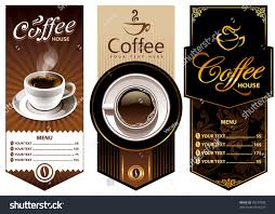 Coffee Cup Designs by Three Coffee Design Templates Vector Banners Stock Vector 78577408