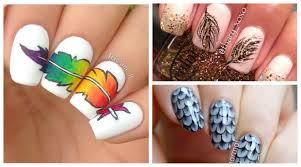 feather inspired feather nail art designs nail art scoop