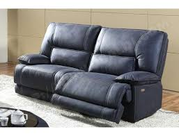 ub design canapé canape relax cuir 3 places canapac relaxation simili detente bobby 2