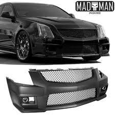 cadillac cts 2010 black cadillac cts v front bumper conversion kit w black grilles