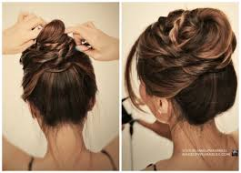 updo hairstyles for girls simple braided bun updo cute girls