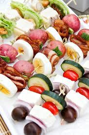Summer Entertaining Ideas - salad skewers for summer entertaining