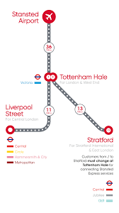 Map My Walk Route Planner by Stansted Express Route Map London To Stansted In 47 Minutes