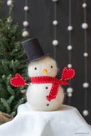 felted wool foam snowman lia griffith