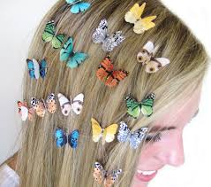 hair accessories for hair 3 butterfly hair custom colors by spotlightjewelry