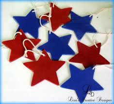 decorating a patriotic christmas tree for the fourth of july