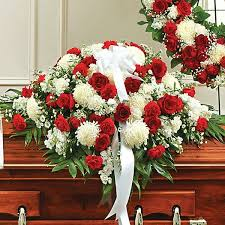 nyc flower delivery memories half casket cover white flower delivery nyc