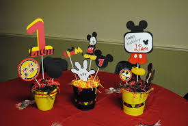 mickey mouse birthday table decoration ideas