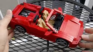 lego technic ferrari hd lego racers 8671 ferrari 430 spider 1 17 review youtube