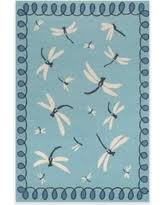 Dragonfly Indoor Outdoor Rug with Here U0027s A Great Deal On Trans Ocean Capri Coral Border 7 Foot 6