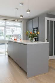 design kitchen islands pearl grey kitchen island design in handleless kitchen finish