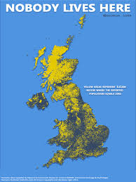 Map Of The United Kingdom Nobody Lives Here United Kingdom U2013 Art Marketing