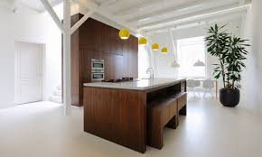 kitchen interior chunky wooden kitchen interior