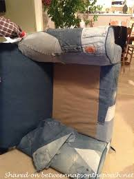 How To Upholster A Sofa by How To Upholster A Chair With Denim From Old Jeans