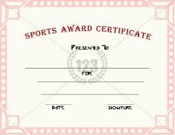 good sports award certificate templates for free download