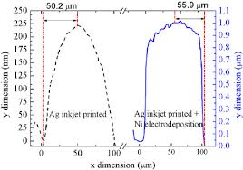 white light interferometers images of perpendicular cross section
