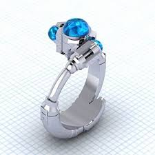 doctor who engagement ring the tenth sonic solitare ring 10th doctor who ring