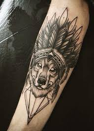 Wolf Indian Tattoos - 75 amazing tattoos for a tribal look