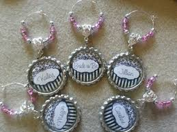bridal shower party favors personalized party favors personalized wine charms
