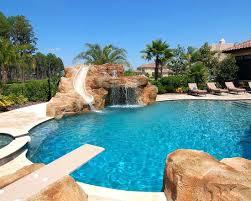 Backyard Pool With Slide - coolest backyard pools with slides amazing backyard pool ideas