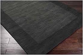 Area Rugs 5 X 8 Amazon Com Hand Loomed Ghana Solid Bordered Tone On Tone Wool