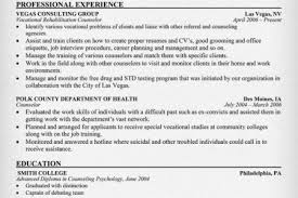 sample vocational rehabilitation counselor resume related free