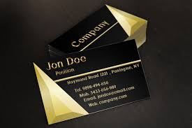 Automotive Business Card Templates Black And Gold Jewelry Store Business Card Template