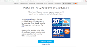 Online Coupon Bed Bath And Beyond How To Find Bed Bath U0026 Beyond Promo Codes When You Forgot Your