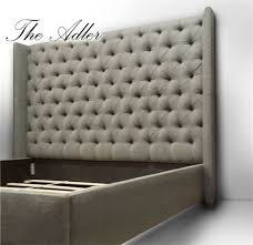 Tufted Wingback Headboard The Adler Headboard 68 Button Tufted Wingback