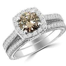 browns wedding rings chagne brown diamond engagement and wedding rings
