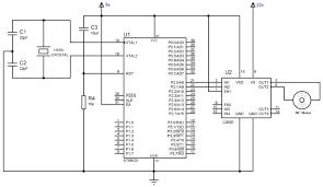 interfacing dc motor with using l293d at89c51 keil c wiring