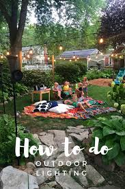 How To Install Outdoor Lighting by Creating Backyard Magic U2014 Mom Wife Foodie