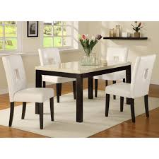 White Dining Room Sets Chelsea Lane Archibald 5 Piece White Dining Set 60 In Hayneedle