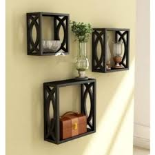 buy onlineshoppee home decor premium solid wood shelf rack wall
