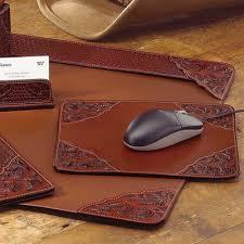 Black Leather Desk Mat Office U0026 Desk Accessories King Ranch Saddle Shop