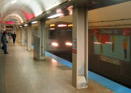 Chicago Metro Station Map by
