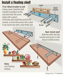 Plans For Wooden Shelf Brackets by Diy Install Floating Shelf Project Is Remarkably Simple