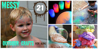 21 messy outdoor crafts for kids around my family table