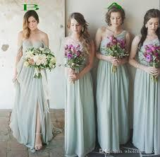 green bridesmaid dresses 2017 flowing green chiffon bridesmaid dresses a line