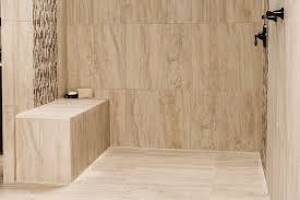 Tile Shower Pictures by Shower With Point Drain Schluter Com