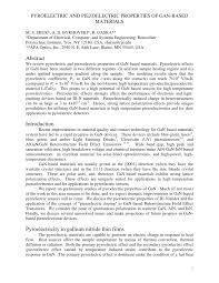 pyroelectric and piezoelectric properties of gan based materials