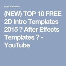 best 25 after effects intro templates ideas on pinterest after