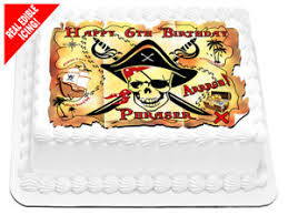 cing birthday party pirate treasure map edible icing image personalised birthday party