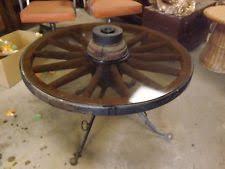 Wagon Wheel Coffee Table by Wheel Table Ebay