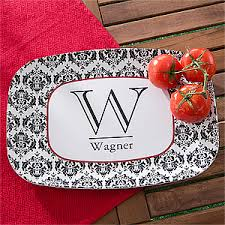 personalized melamine platter personalized melamine serving platter damask for the home