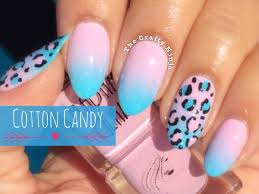 cotton candy ombre leopard nails by the crafty ninja youtube